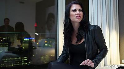 Fantastic brunette Samantha Bentley loves it rough and hard