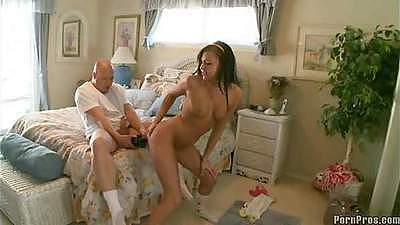 Fucking Ivy near the mirror in her own beedroom