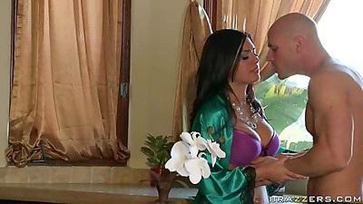 Milf Eva Angelina pulling dudes pants off
