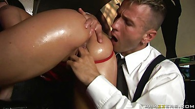Simony anal probed into a lubed up anus