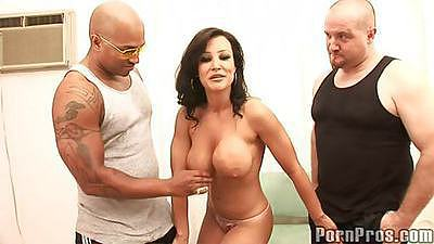 LIsa Ann big tits babe taking on freaky large cock