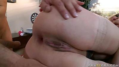 Sideways big round ass milf Diamond anal fuck