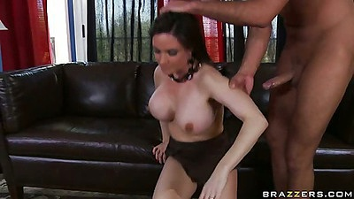 Reverse cowgirl Diamond milf fucking on carpet