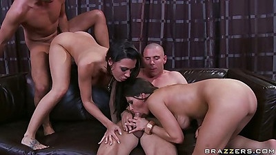 Group sexy with big tits Rachel getting stretched