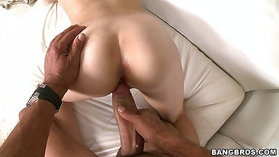 Damn Karmen Blaze barely fits cock in mouth