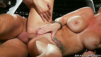 Jayden sideways fucked on the floor