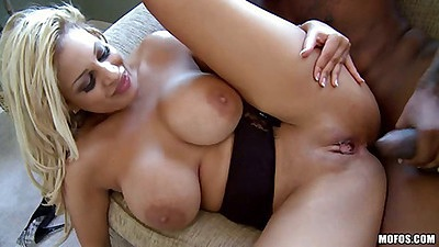 Milf fucked by black cock and gets nice mouthful cum