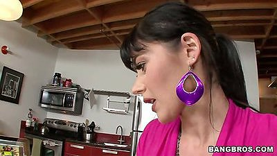 Milf from Belgium Eva Karera in the kitchen