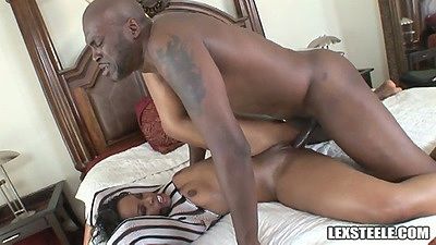 Fucking shaved pussy and natural tits Vanessa Monet from all angles