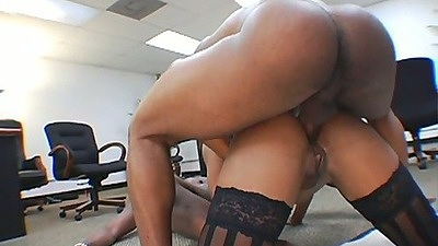 Doggy style anal with black babe Ayana Angel and group fuck gang bang