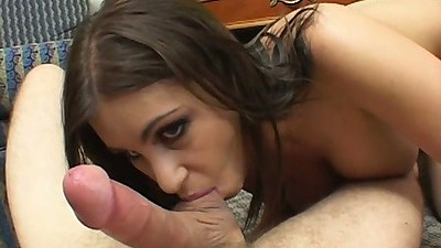 Big tits Whitney Stevens sucking on the balls and humping on cock