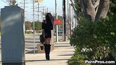 Outdoor public violation with Diana Prince