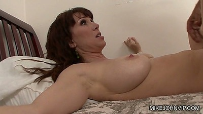 Natural busty milf RayVeness gets missionary sex