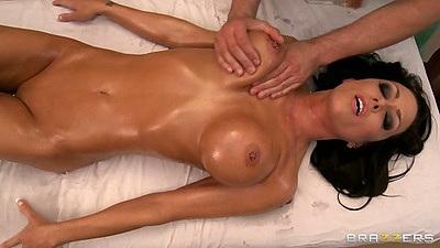 Jessica Jaymes enjoying a nice oil nude massage