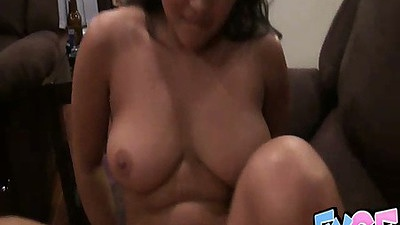 Big tits amateur gf AdriannaLexgf close up sex on home video