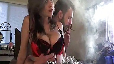 Brandon Areana Big tits amateur smoking and getting big tits felt up