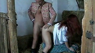 Marianne fucked in the horse shed