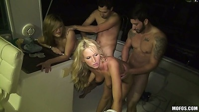 Group party sex with Trixie Star and Kira Koi college sluts