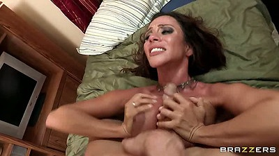 Titty fucking rough sex with hairy milf Ariella Ferrera