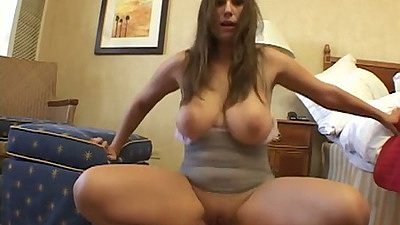 Rucca Page sits on cock anal penetration flapping big tits pov