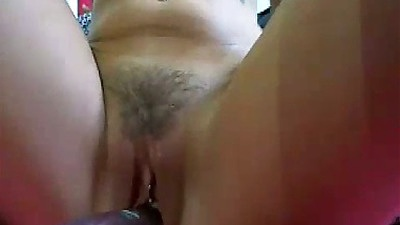 Trimmed pussy Alex Avery masturbating on home cam video with anal