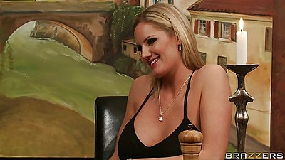 Blonde milf Zoey Holiday with nice big boobs shows them off