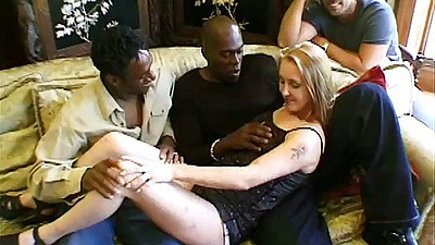 Christina relaxes on a bunch of guyes and prepares for gang bang sex
