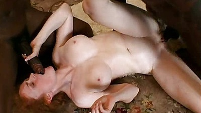 Nicole gets fucked from the front by black dick in threesome