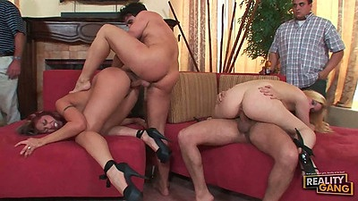 Great group sex with Angelina Valentine at college party sex