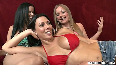 Big tits lesbians hitting the beach with Jessica Rayne and Rachel Starr