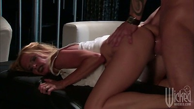 Rear entry doggy fuck hardcore with Payton Leigh sitting on dick too