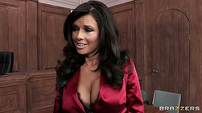 Milf Veronica Avluv in the court room looking for office sex