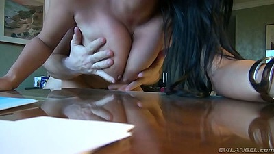 Great natural tits Anissa Kate  doggy style rough sex with tits smacking
