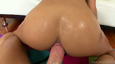 Doggy style pov anal with cowgirl front fuck