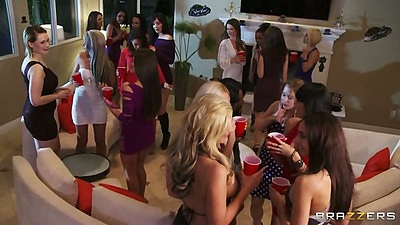 Group party with Alexis Ford and Nikki Benz in orgy