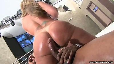Regina Rizzi and Alessandra Maia big ass riding black monster dick