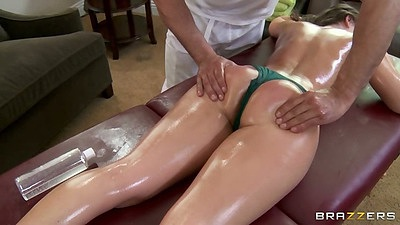 Crazy and sexy oil massage with Remy LaCroix and blowjob