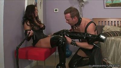 Fetish and bondage with latina Francesca Le in femdom maledom