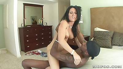 Milf humps on her new found big black cock