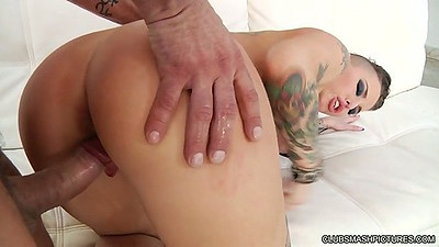 Doggystyle and sucking with tattoed slut Christy Mack