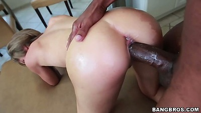 Doggy style and reverse cowgirl monster big dick sex with petite girl Natasha White