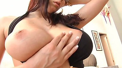 Brunette big tits Gianna Michaels group blowjob including some titty fucks on the side