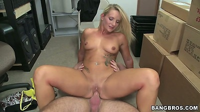 Back room reverse cowgirl all natural body Cali Carter fuck during audition