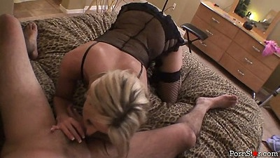 Pov lingerie blowjob and masturbation with Carolyn Reese
