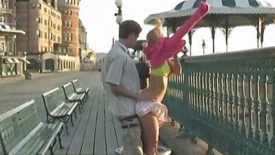 Outdoor public street fuckig with half dressed amateur horny teen