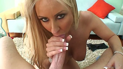 Pov big milf tits blowjob and a sweet titty fuck with Carolyn Reese
