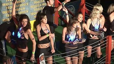Dancing college sluts flashing panties in upskirts