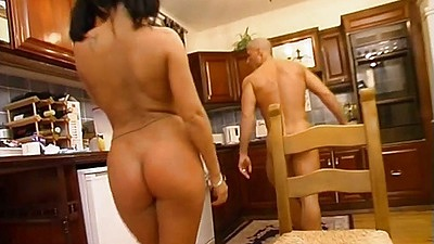 Teen  Baby getting fucked on kitchen carpet