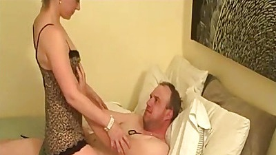 Cowgirl couple fuck with FireFlame