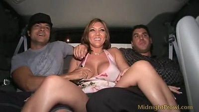 Backseat driving with spicy Claire Dames pornstar